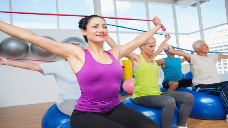 Resistance training slims a fatty liver. Image via Shutterstock.com