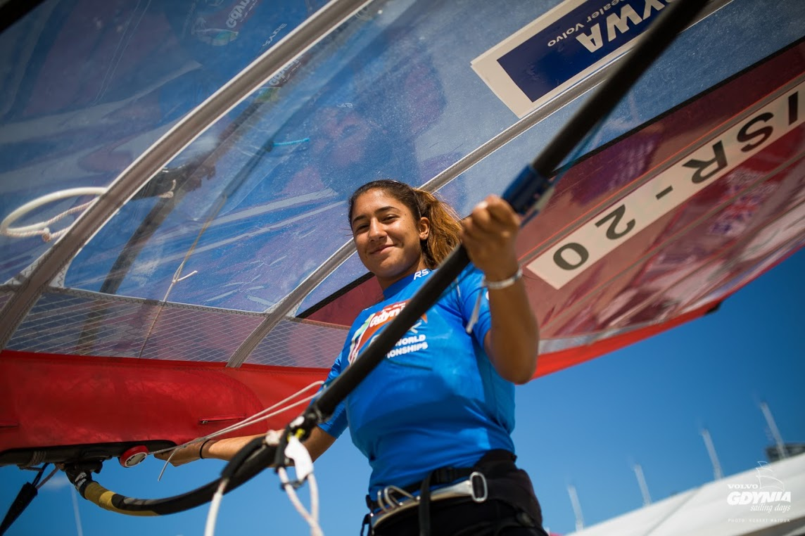 Noy Drihan won a double gold at RS:X Youth Worlds 2015. (Photo by Robert Hajduk/ShutterSail.com)
