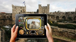 """""""Swipe the Citadel"""" at the Tower of David museum. Photo: courtesy"""
