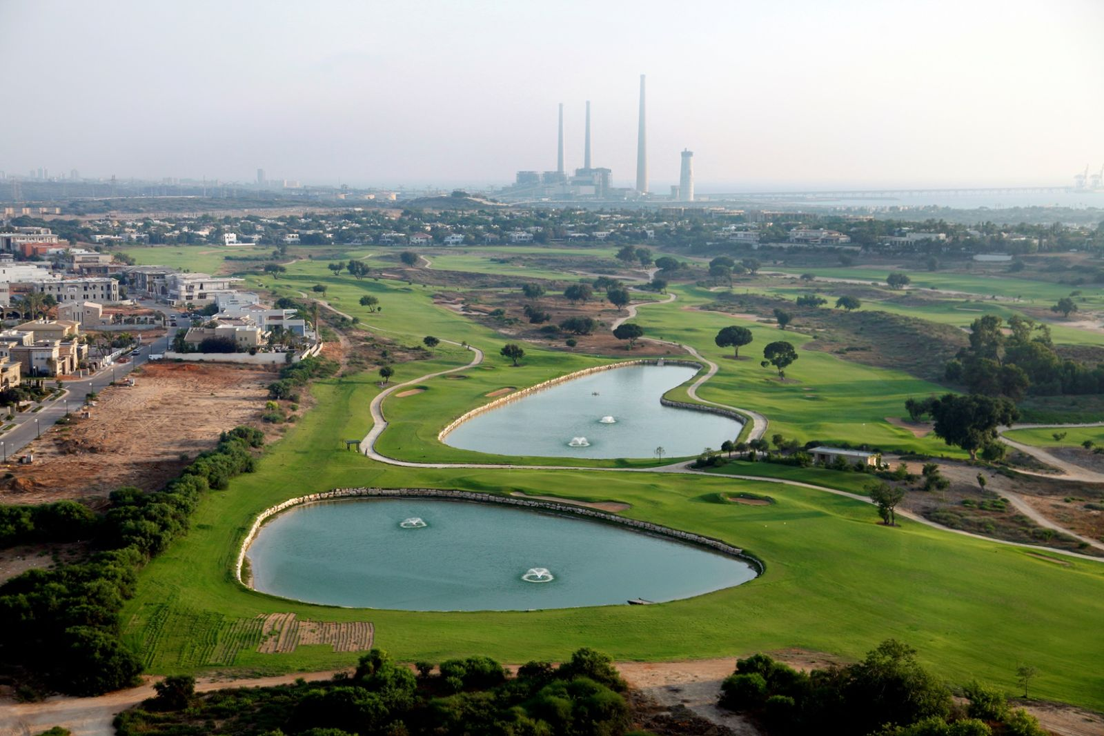 The golf course in Caesarea. Photo by Moshe Shai/FLASH90