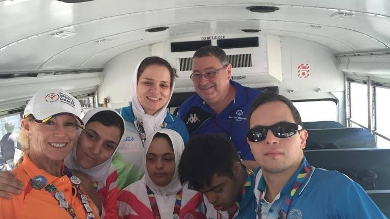 Iranian and Israeli athletes show true sportsmanship. (Photo: Special Olympics Israel Facebook)
