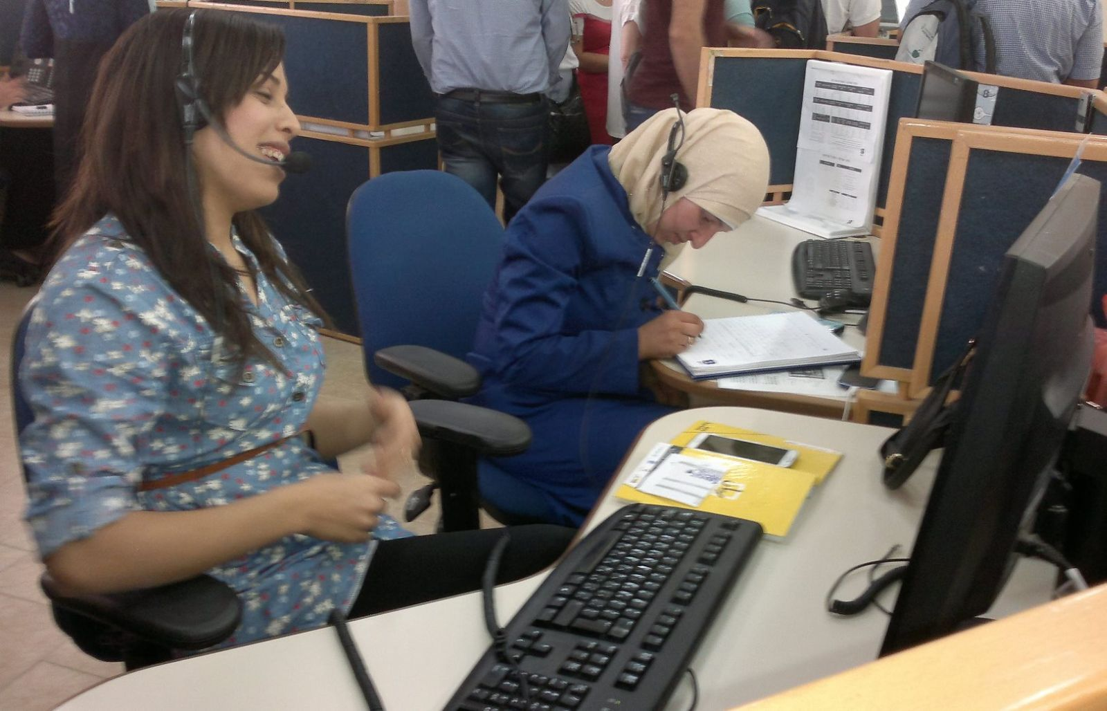 bringing bedouin women into the workforce c bedouin women working in the call center inside a mosque photo by abigail klein leichman
