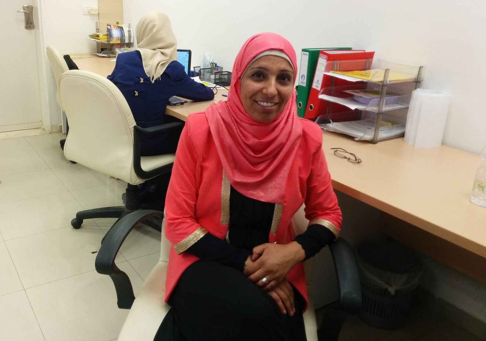Mariam Abu Hamad, director of the Rayan Employment Center in Segev Shalom. Photo by Abigail Klein Leichman