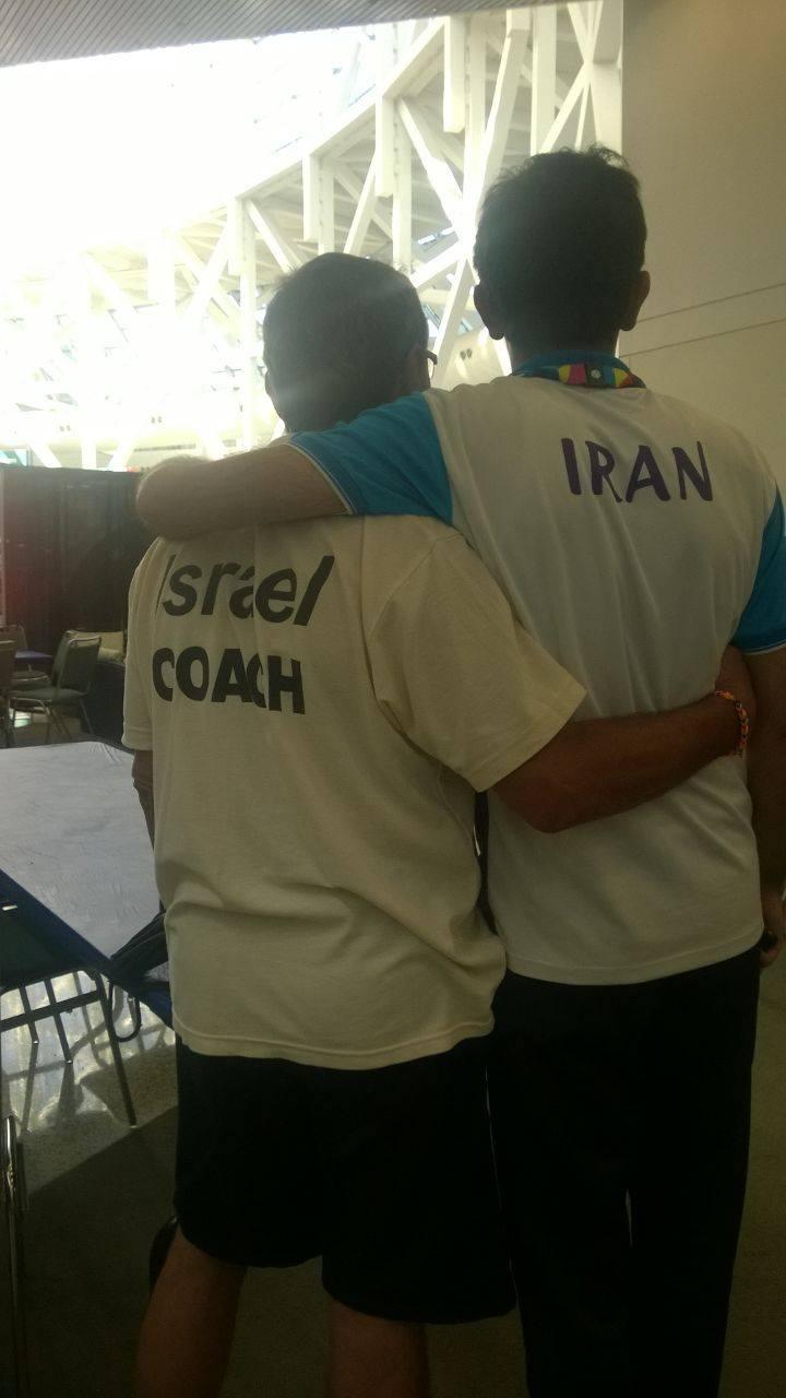 A hug worth a thousand words.  (Photos: Special Olympics Israel Facebook)