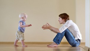 Is baby walking at the right time? Photo via www.shutterstock.com
