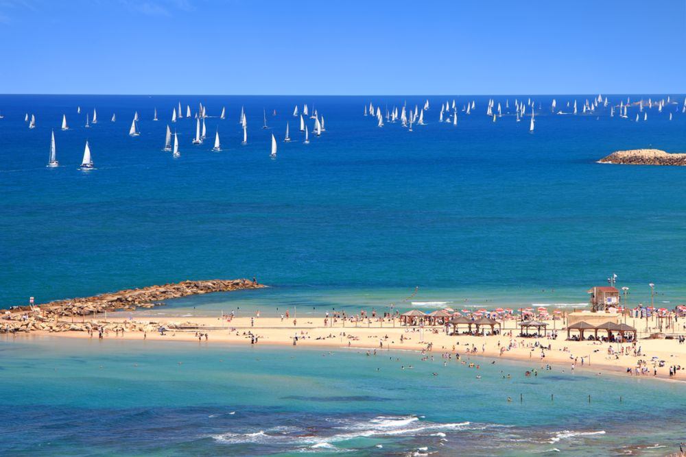 Tel Aviv has 13 official beaches. Photo via www.shutterstock.com