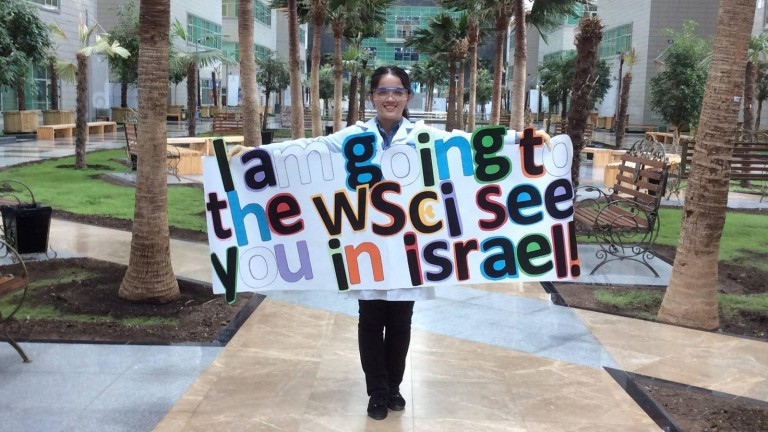 Assel Akhmetova from Kazakhstan announces her participation in the World Science Conference Israel. Photo: WSCI Facebook