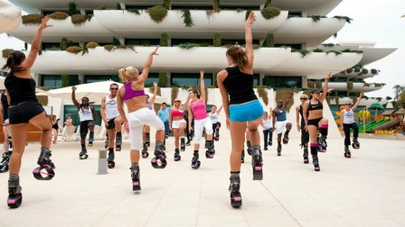 Kangoo Jumps is hopping across Israel. Photo via Liza Hazan's Facebook page