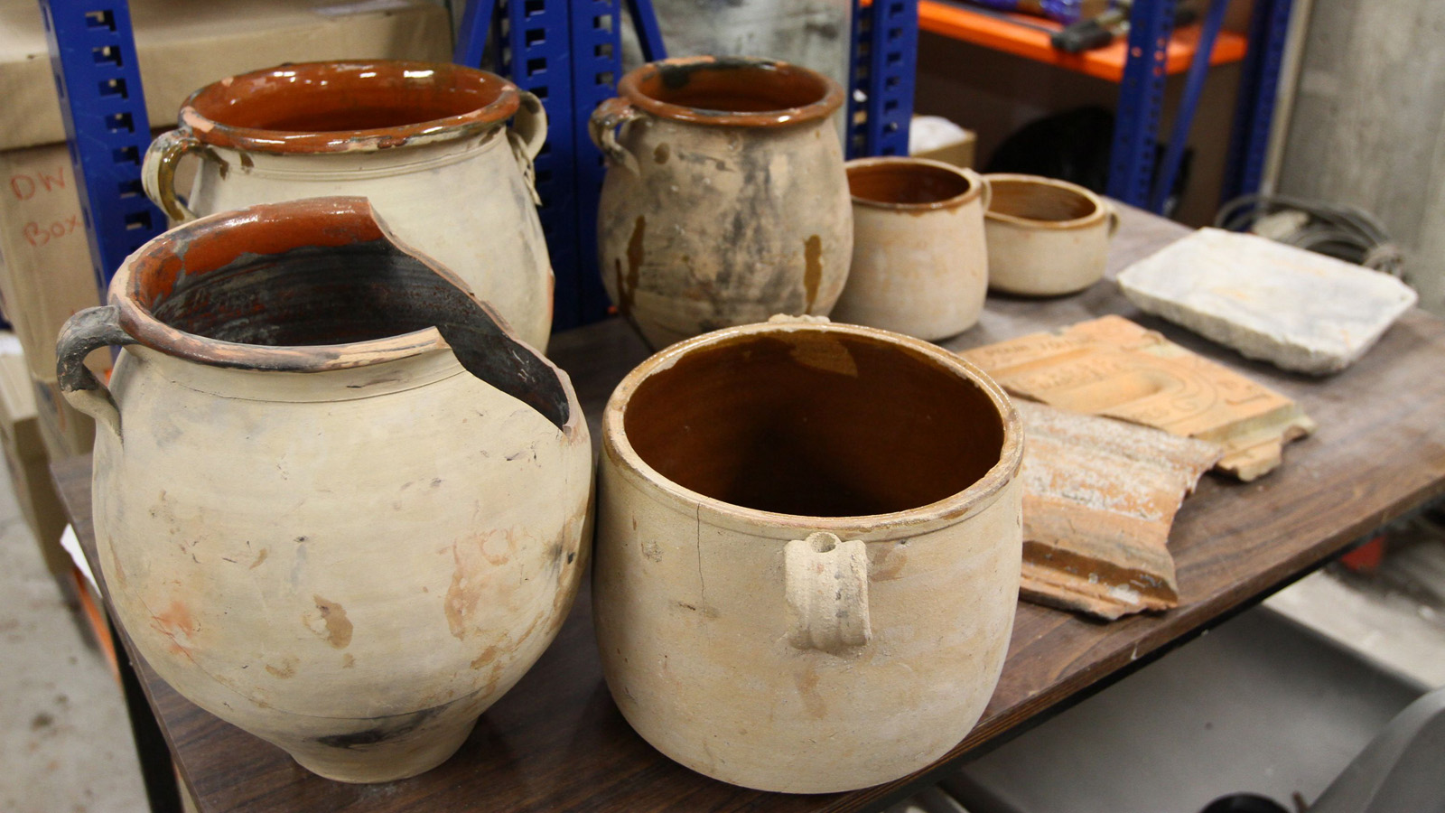 Ceramics helped researchers conclude the ship likely sank in the late 1800s. Photo: University of Haifa