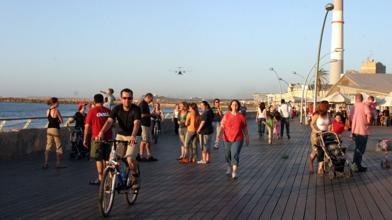Tel Aviv Port is great for families. Photograph by Yael Tzur /Flash90