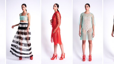 The 3D-printed designs of Danit Peleg. Photo by Daria Retiner
