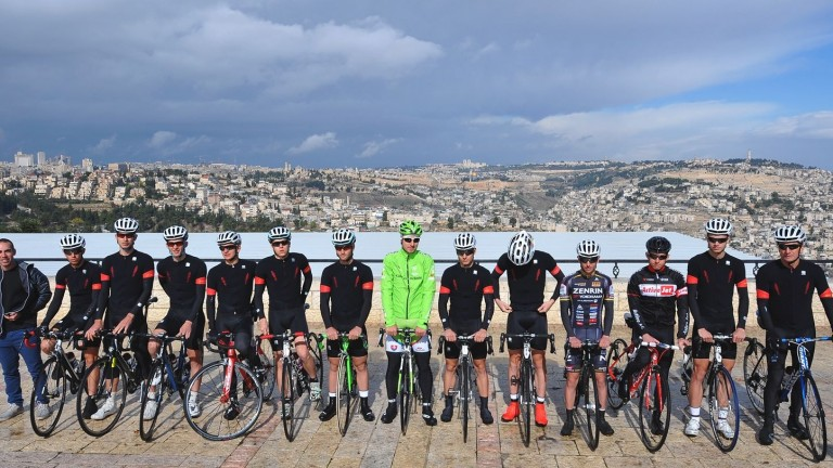 Team Cycling Academy at its Jerusalem debut. Photo: Tim de Waele/TDWSport.com