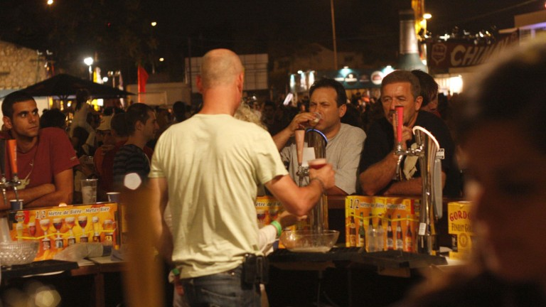 The 10th Jerusalem Beer Festival gets underway next week at Independence Park from August 26-27, 2015. Photo: Daniel Dreifuss/Flash 90