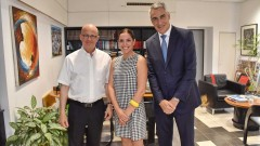 Prof. Joseph Klafter, President of TAU, Eric Yves Mahe, President of Software and Solutions at Kodak, and Einav Aharoni-Yones, Manager of Kodak Israel, launch TAU-Kodak collaboration. Photo: Courtesy