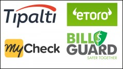 Tipalti, eToro, MyCheck, BillGuard are among top fintech companies.
