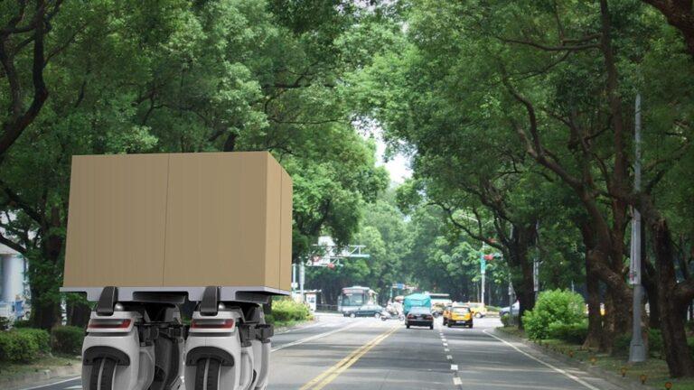 Kobi Shikar's vision of his robotic delivery drone. Image by Kobi Shikar/REX Shutterstock