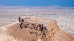 A bird's eye view of Masada. Photo via www.shutterstock.com