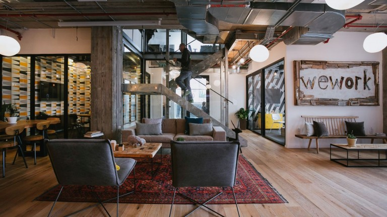 Inside Herzliya WeWork. Photo by Shiran Carmel