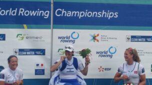 Moran Samuel at World Rowing Championships. Photo: Facebook