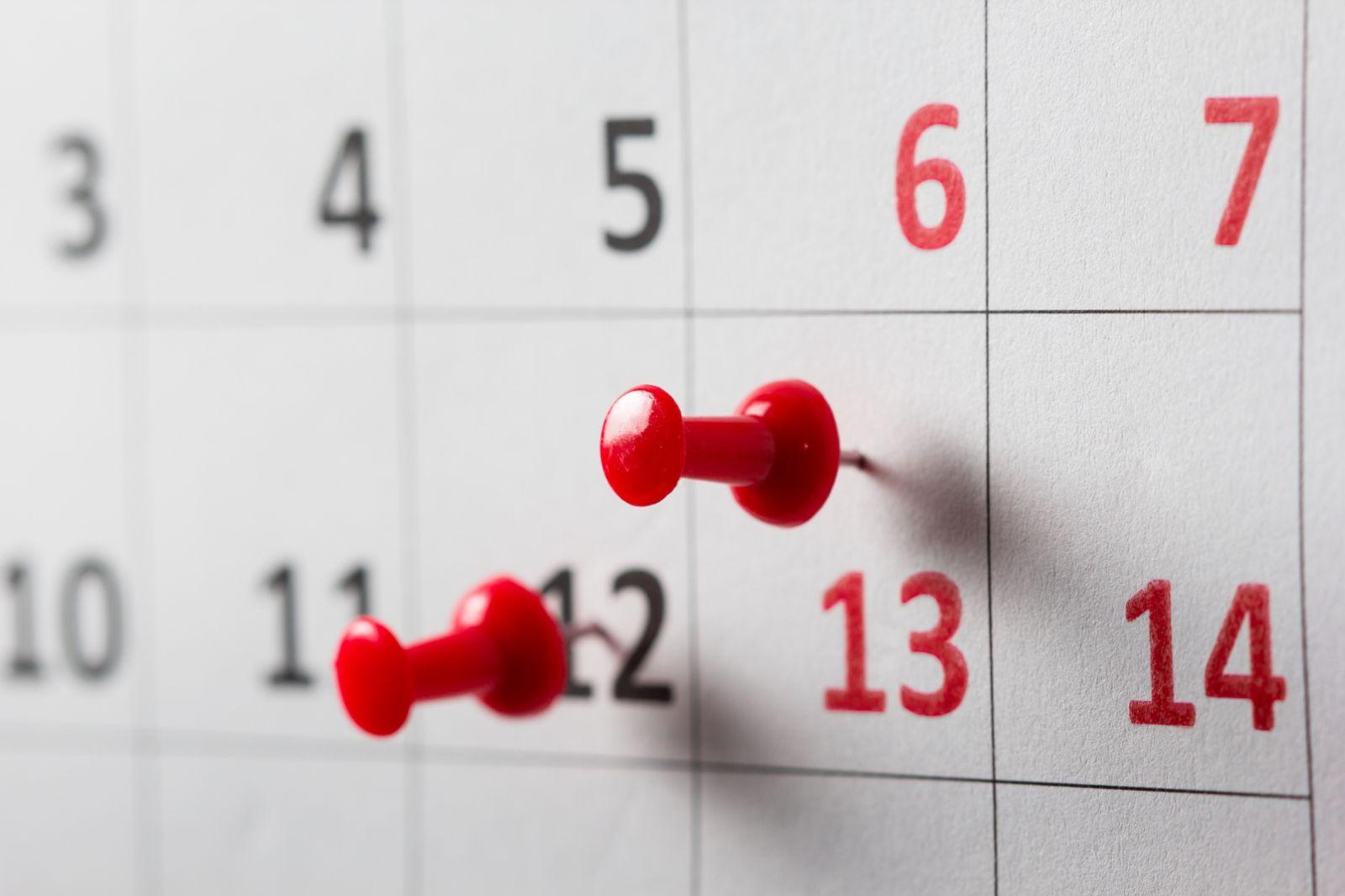 Calendar image via Shutterstock.com