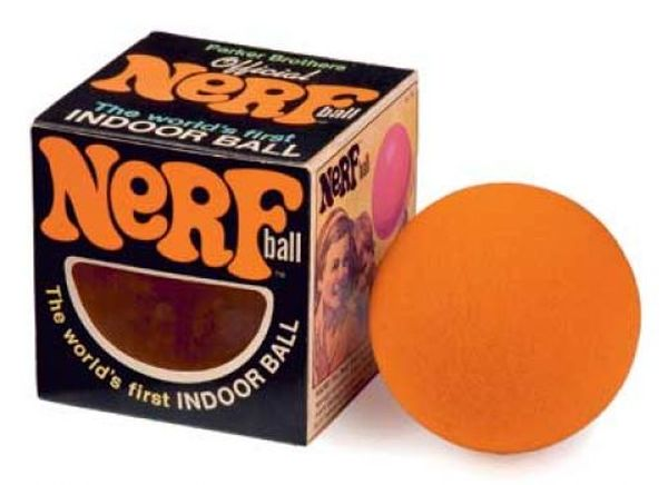 The perfect cleaning tool? A Nerf ball. Photo courtesy
