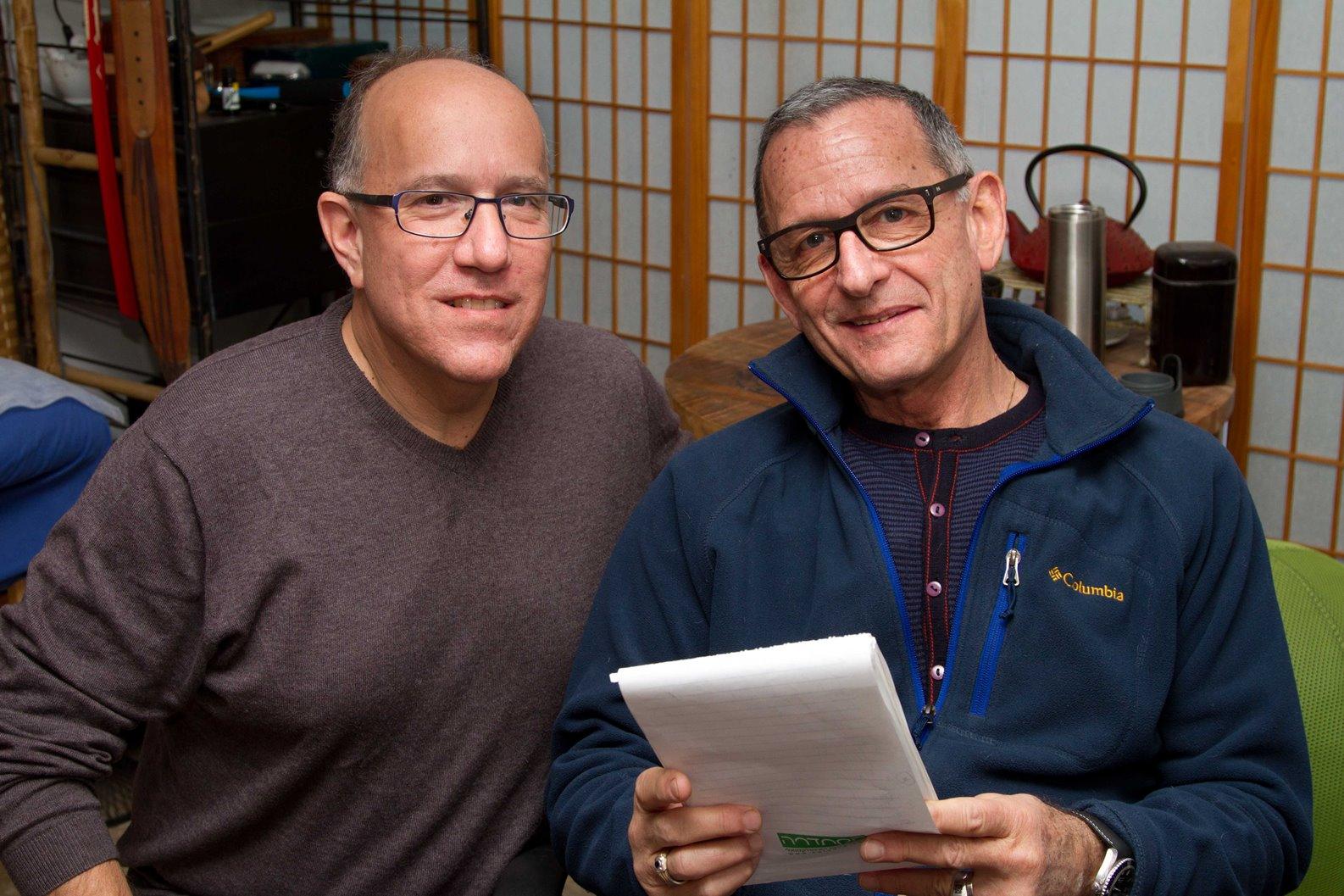 Goodbye Parkinson's, Hello Life!: The Gyro-Kinetic Method for Eliminating Symptoms and Reclaiming Your Good Health coauthors David Brinn, left, and Alex Kerten. Photo by Debbie Zimelman