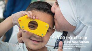 Nagi Abu Farhan, 4, from the Umm al-Fahm area, at Soroka University Medical Center in Beersheva. Photo by Shahar Azran
