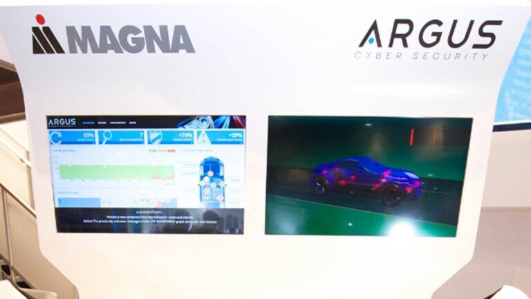 Magna Argus cyber security technology demonstration (PRNewsFoto/Magna International of America)