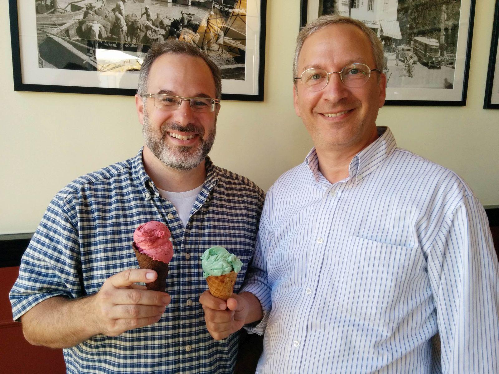 Bisconi cofounders Scott Apfelbaum, right, and David Beker. Photo by Viva Sarah Press