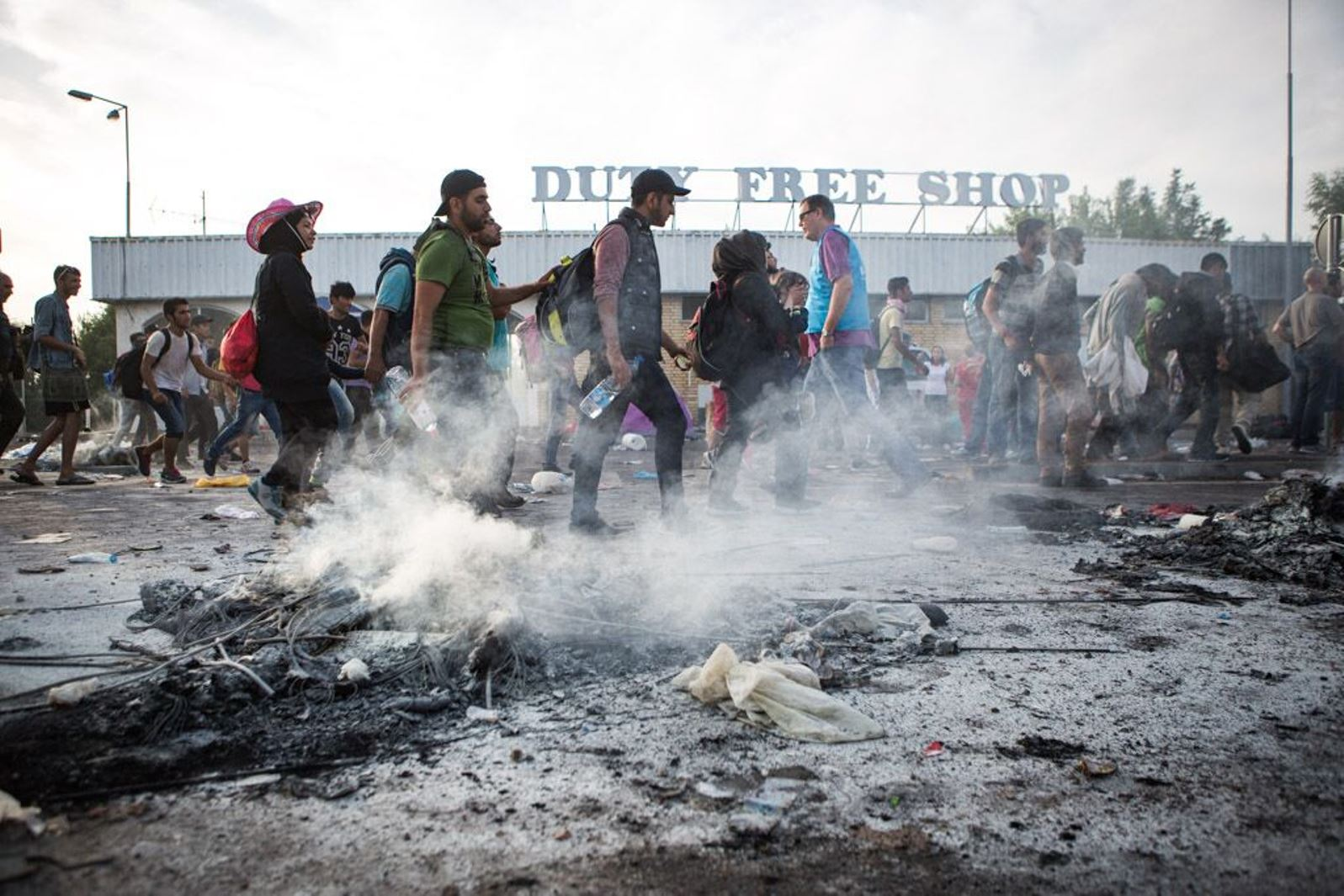 IsraAid helped refugees caught up in the rioting on the Hungary border. Photo courtesy of IsraAid