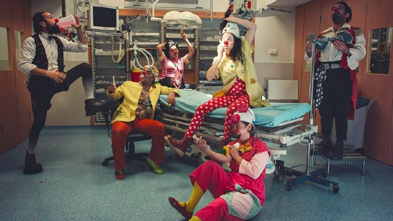Medical clowning looks fun but it's a serious profession in Israel. Photo by Alexey Kudrik