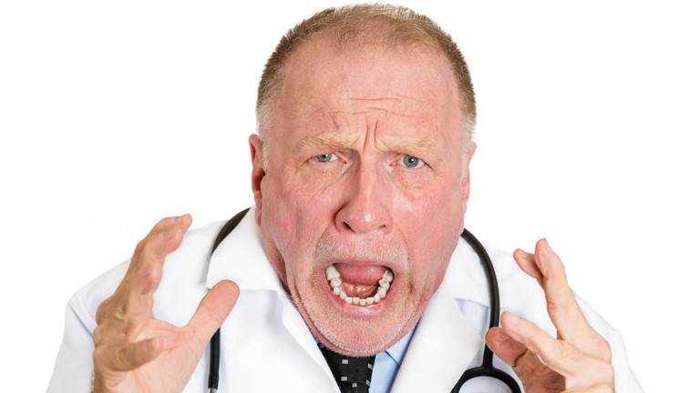 Rudeness is rampant in many medical contexts. Image via Shutterstock.com