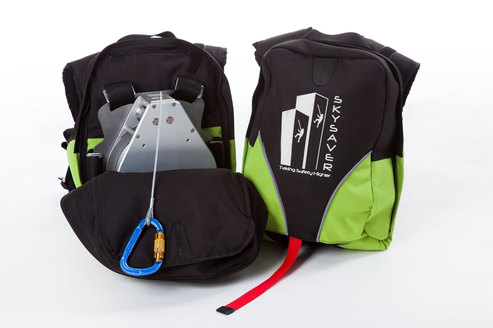 The personal rescue device is contained in a backpack. Photo: courtesy