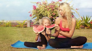 Moms should talk about healthy eating not dieting. Photo by Shutterstock