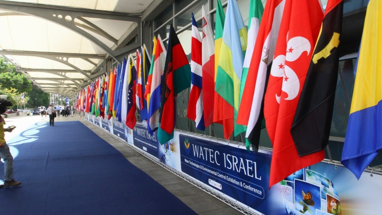 A showcase of state-of-the-art Israeli water tech innovations.   Photo courtesy of WATEC PR