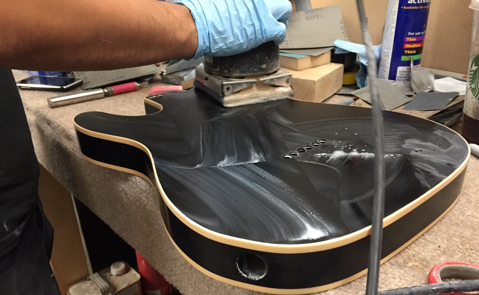 A Shabat guitar in the making. Photo: courtesy