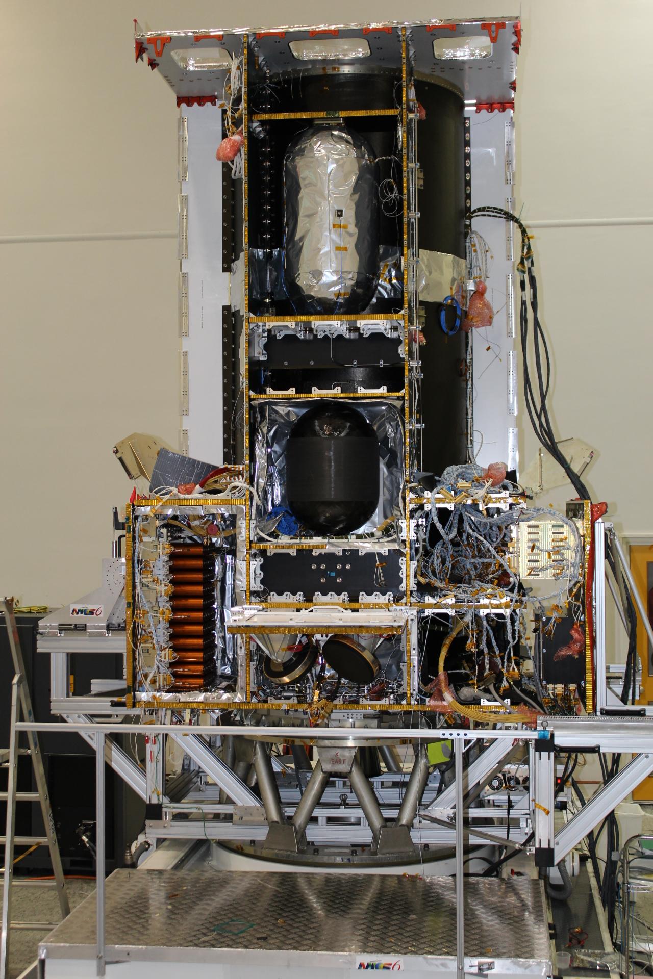 AMOS-6 in production. Photo courtesy