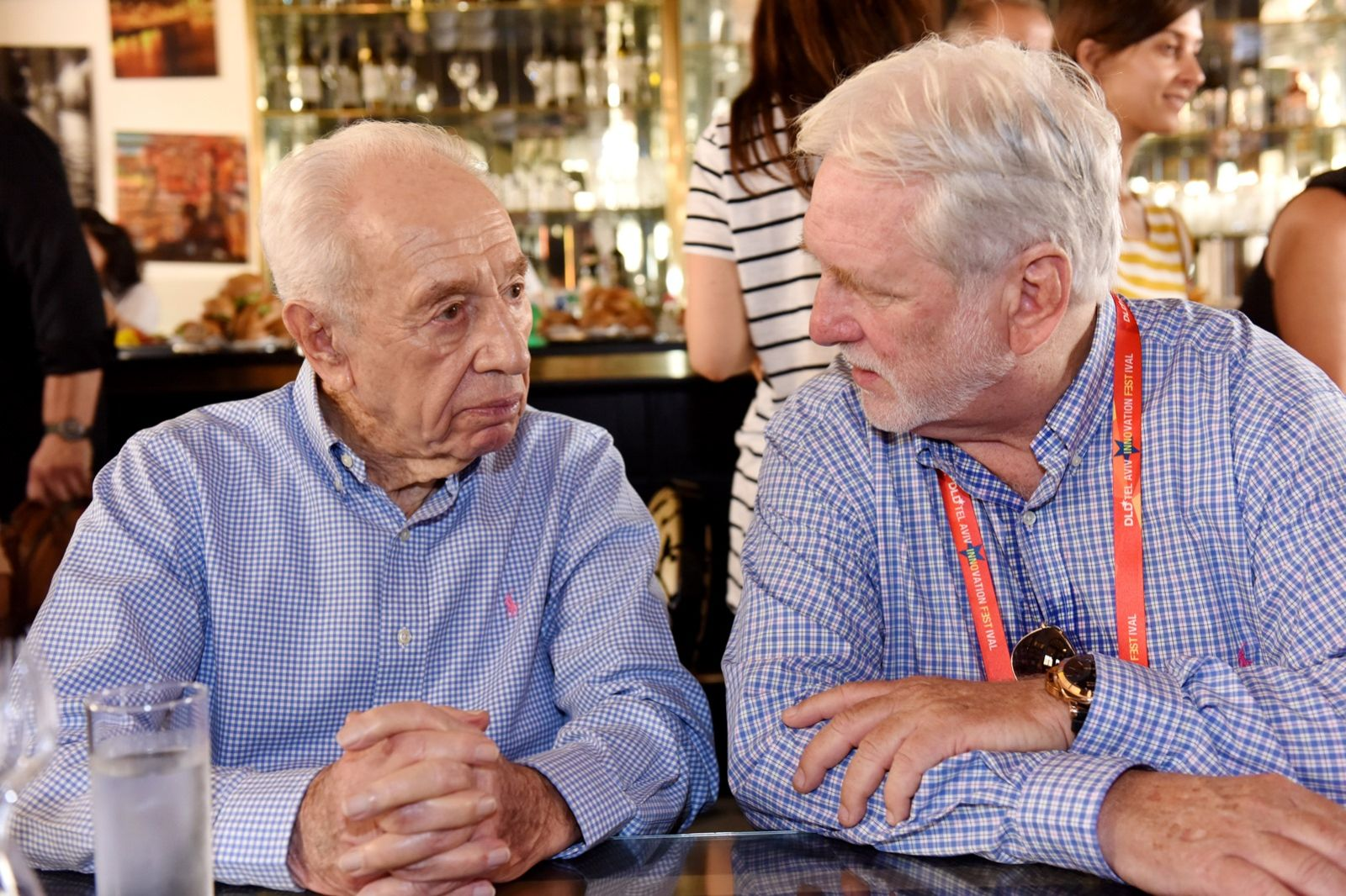 Archimedicx was one of three startups chosen to present to former president Shimon Peres at DLD Innovation Festival in Tel Aviv last September. Here founder and CEO Moni Milchman is pictured with Peres. Photo: courtesy