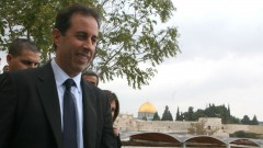 Jerry Seinfeld in Jerusalem during a 2007 visit to Israel. Photo by Yossi Zamir/Flash 90
