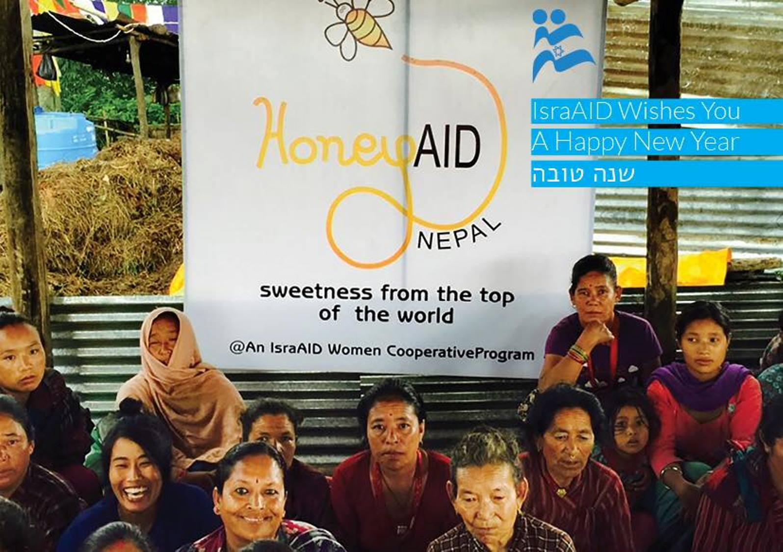 IsraAID's HoneyAID project will employ women in Nepal. Photo via Facebook