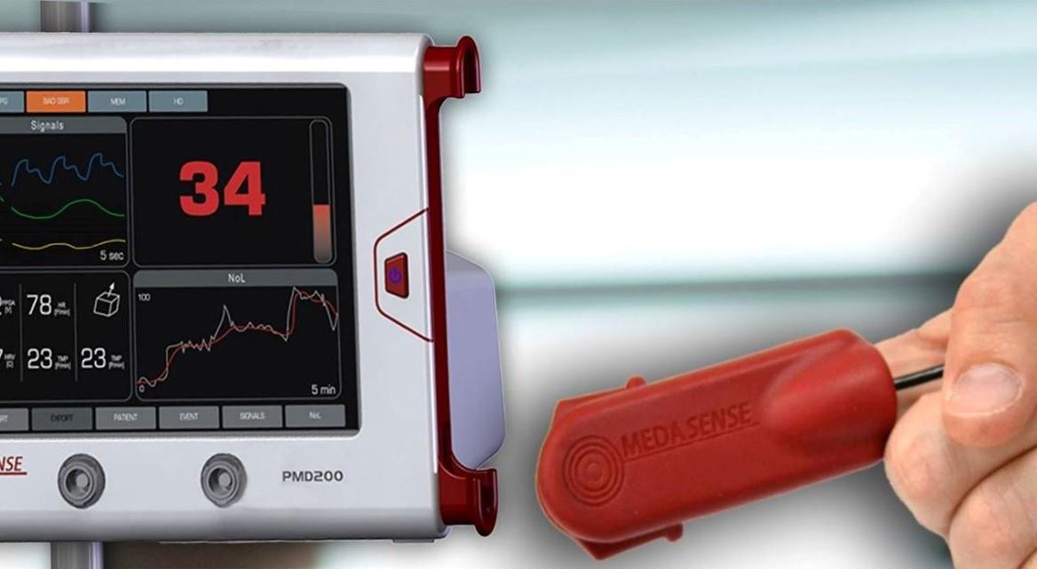 Medasense s finger mounted sensor records relevant physiological
