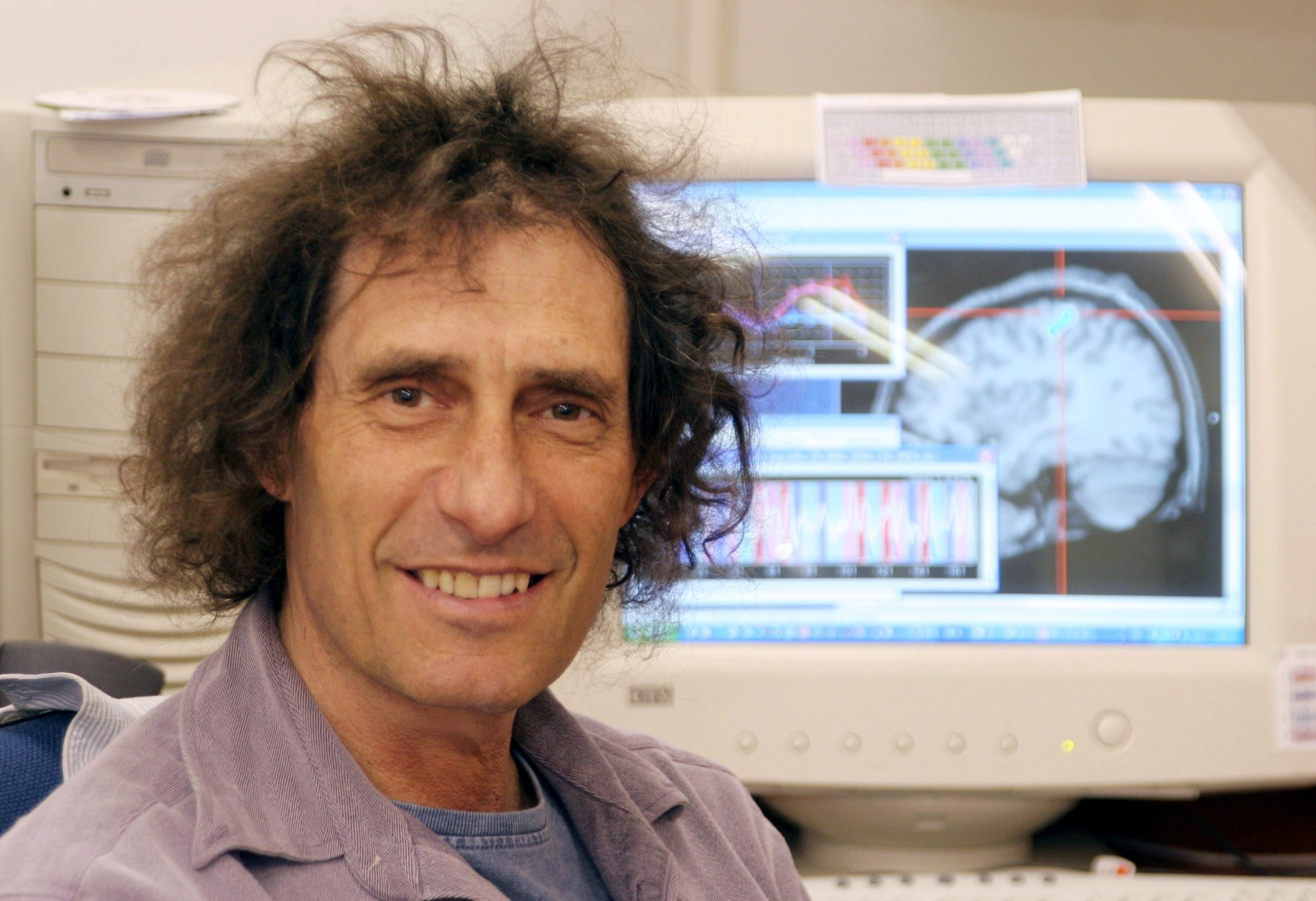 Prof. Idan Segev of the Hebrew University's Edmond and Lily Safra Center for Brain Sciences and director of neurobiology, is a senior author of the research paper and contributor to the Blue Brain Project. Photo by Sasson Tiram