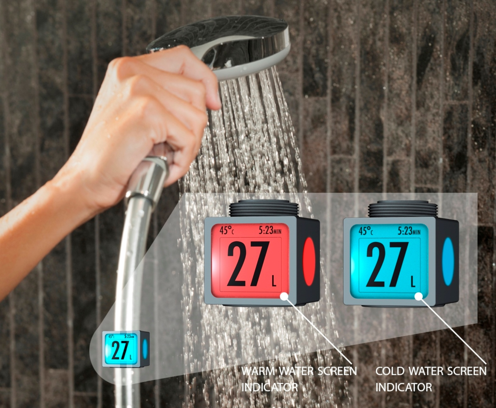 The meter makes it easy to watch water usage on any faucet. Photo: courtesy