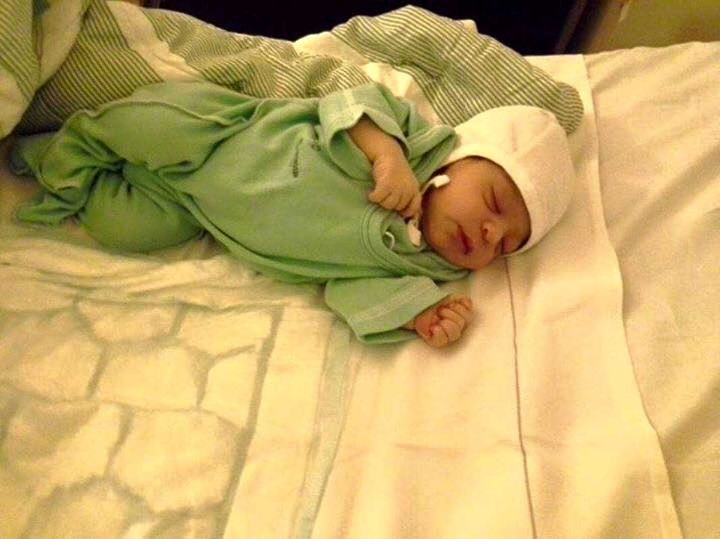 This is the Syrian couple's newborn daughter Luna. Photo via Facebook