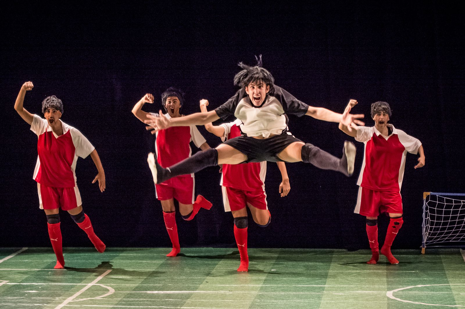 """InvisiBALL"" is a comedic satire with lots of energy. Photo by Ronen Rosenblatt"