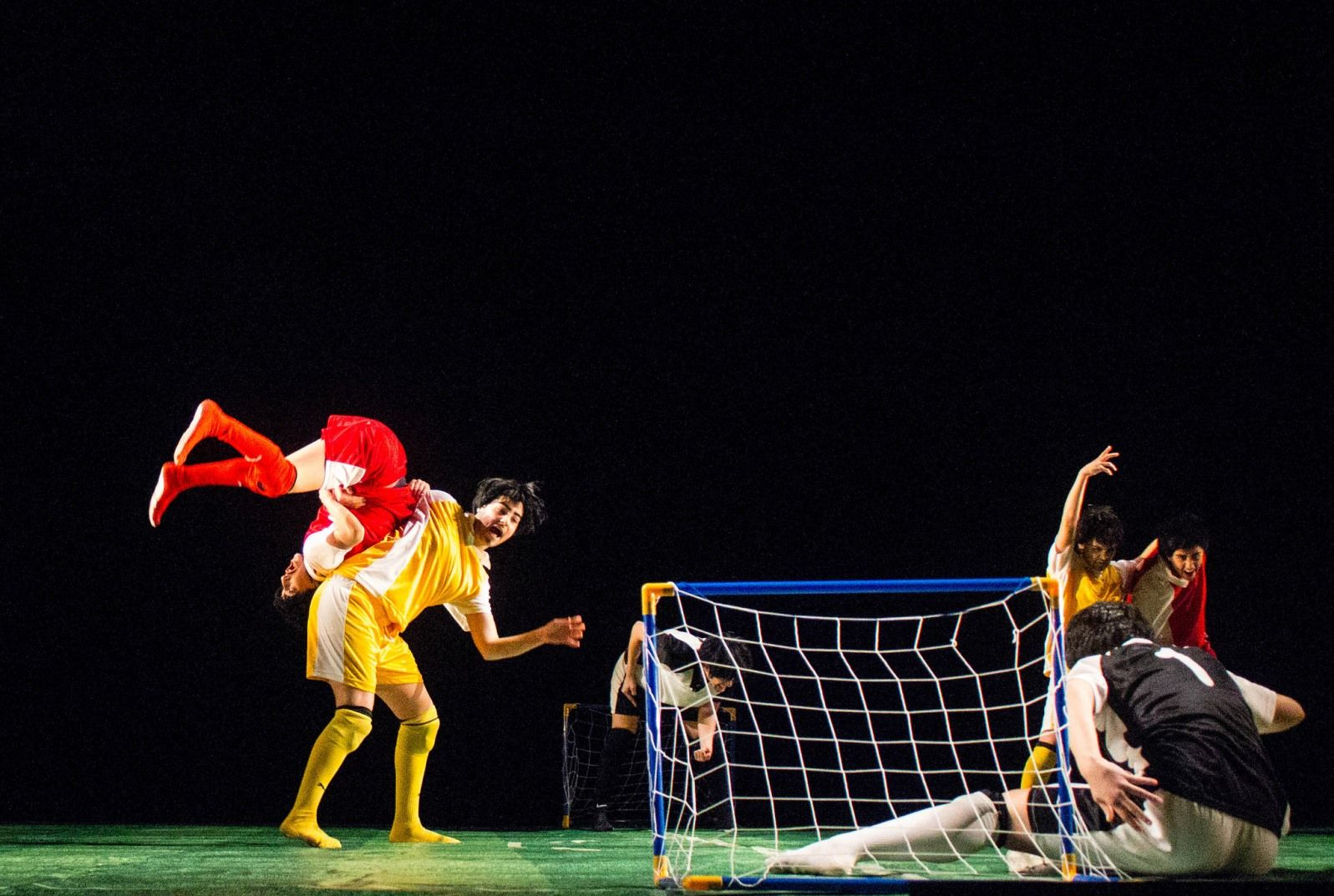 "A scene from ""InvisiBALL."" Photo by Gloria Matos"
