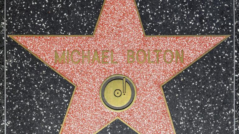 Michael Bolton's starstar on Hollywood Walk of Fame. (Shutterstock)