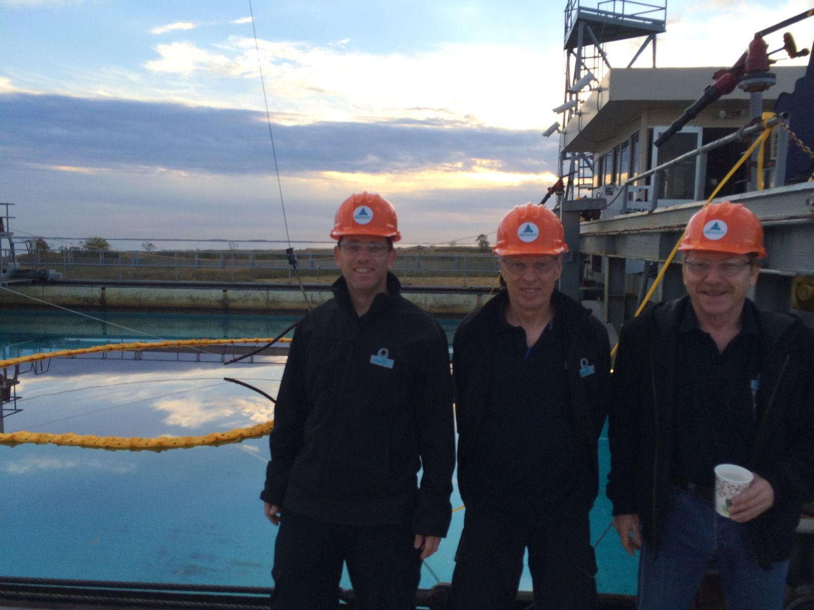 The HARBO team out at sea, from left, Boaz Ur, Arnon Shany and Haim Greenberg. Photo courtesy of HARBO Technologies