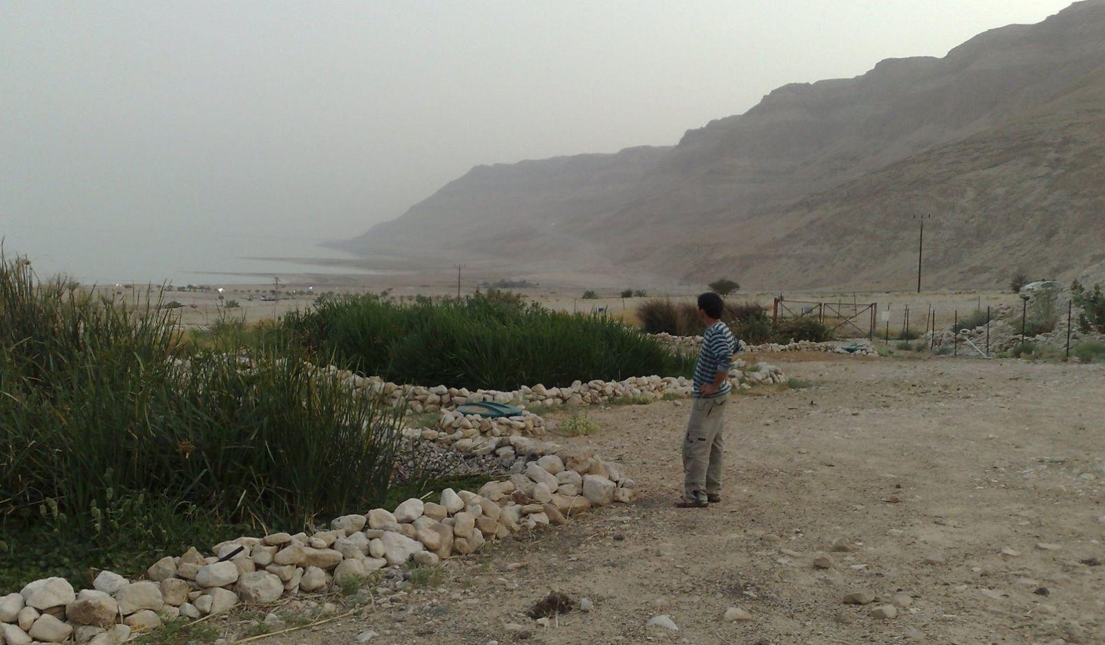 Ayala installations outside the Ahava cosmetics factory at the Dead Sea. Photo: courtesy