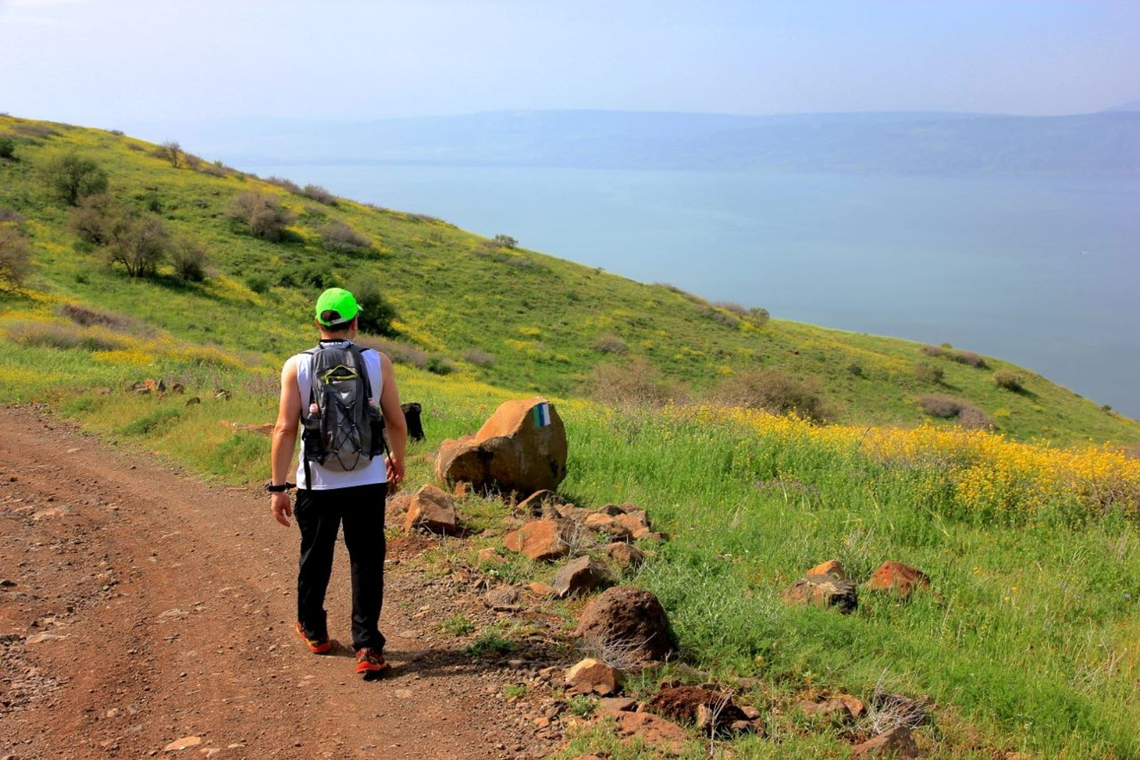 American journalist Todd Pitock on the Golan Trail. Photo by Israel Eshed
